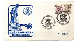 Carta Con Matasellos Commemorativo Aguas De Barcelona De 1980 - 1931-Hoy: 2ª República - ... Juan Carlos I