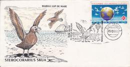 BIRDS, GREAT SKUA, SPECIAL COVER, 1993, ROMANIA - Marine Web-footed Birds