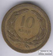 Türkei KM-Nr. : 888 1956 Sehr Schön Messing Sehr Schön 1956 10 Kurus Mondsichel Und Stern - Türkei
