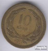 Türkei KM-Nr. : 888 1949 Sehr Schön Messing Sehr Schön 1949 10 Kurus Mondsichel Und Stern - Türkei