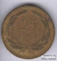 Türkei 886 1955 Sehr Schön Messing 1955 25 Kurus Mondsichel Und Stern - Türkei