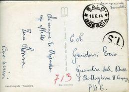 31476 Italia RSI Cartolina Da Salò 16.6.1944 Zona Sprovvista Di Francobolli - 4. 1944-45 Repubblica Sociale