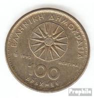Griechenland KM-Nr. : 159 1992 Vorzüglich Aluminium-Bronze 1992 100 Drachmen Alexander Der Große - Griechenland