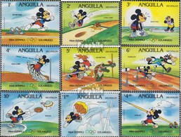 Anguilla 567C II-575C II (kompl.Ausg.) Postfrisch 1984 Walt-Disney-Figuren: Zehnkampf - Anguilla (1968-...)