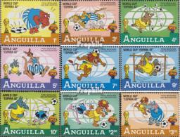 Anguilla 501-509 (kompl.Ausg.) Postfrisch 1982 Walt-Disney-Figuren: Fußball-WM - Anguilla (1968-...)