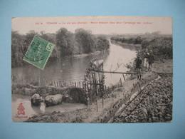 CPA     Viêt-Nam  Tonkin  La Vie Au Champs - Noria élevant L'eau Pour L'arrosage Des Rizières  1909 - Vietnam