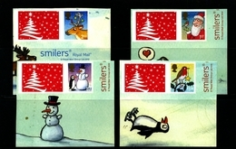 GREAT BRITAIN - 2012  CHRISTMAS  LITHO  SET  EX SMILERS   MINT NH - Neufs