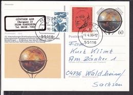 Ganzsache Briefmarkenbörse Sindelfingen  1992 , Stempel Mainz - BRD