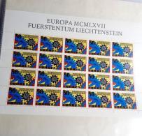 LIECHTENSTEIN LOT 12 KLEINBÖGEN Feuillet Bloc 1967 ** MNH SUPER ETAT - Blocs & Feuillets