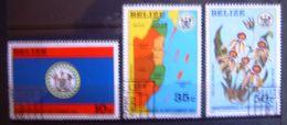 3 Timbres - Belize - Indépendance 21 Septembre 1981. - Belize (1973-...)