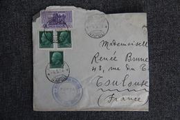 Lettre D'ITALIE ( NAPOLI) - CENSURA Vers FRANCE - Storia Postale