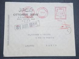 EGYPTE - Enveloppe Commerciale Du Caire Pour Paris En 1950 , Affranchissement Mécanique - L 14651 - Covers & Documents