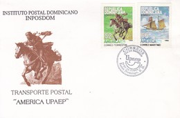 FDC-REPUBLICA DOMINICANA. TRANSPORTE POSTAL AMERICA UPAEP.-TBE-BLEUP - Dominica (1978-...)