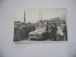 FOTO CICLISMO   FANTINI 39°GIRO D'ITALIA 1956 AUTO D'EPOCA MOTO GUZZI. - Ciclismo