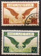 Flugbrief 1929: Zu Flug 14-15y (glatt) Mi 233-234x Yv PA8-9 Mit Eck-o CLARENS & GENÈVE (Zu CHF 200.00) - Used Stamps