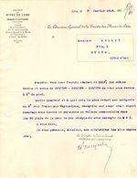 62 LENS COURRIER 1913  Société Des MINES De Lens Concessions De Lans Et Douvrin  * Z97 - 1900 – 1949