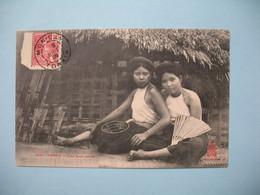CPA  Viêt-Nam  Tonkin  Les Deux Amies   1909   Mon.Cay Tonkin  Pour Le 10è Coloniale  S.H.N. Haïphong  Tonkin 1909 - Vietnam