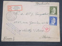 ALLEMAGNE - Enveloppe En Recommandé De Brüsau Pour La France En 1943 Avec Contrôle Postal - L 14655 - Allemagne