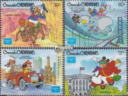Grenada-Grenadinen 762-765 (kompl.Ausg.) Postfrisch 1986 Walt-Disney-Figuren - St.Vincent Y Las Granadinas