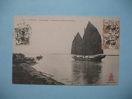 CPA  Viêt-Nam  Tonkin   Haïphong  -Jonque De Mer En Rivière  Pour Le 10è Coloniale S.H.R. Haïphong - Vietnam