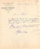 21 L' ETANG VERGY COURRIER 1913 BOIS De Chauffage Paisseaux & Charbon ROLLET  * Z97 C/  LONGVIC - 1900 – 1949