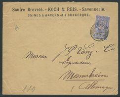 België Brief Met Nr 70 Verstuurd Naar Mannheim - 1894-1896 Expositions