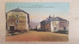 39 - CPA Animée LES MONT JURA - Col De LA FAUCILLE Et Le Mont-Blanc (Hôtel, Carte Couleur) - Francia