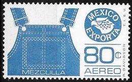"""Messico/Mexico/Mexique: """"Mezclilla"""", Tessuto Di Cotone Grezzo, Di Solito Di Colore Blu, Che Viene Utilizzato Principalme - Tessili"""
