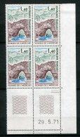 6291   FRANCE  N° 1687  ** 1f40 Vert, Violet, Brun Et Bleu : Gorges De L'Ardèche  Du 29/5/71  TTB - 1970-1979