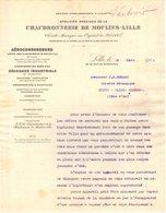 59 MOULINS LILLE COURRIER 1912  CHAUDRONNERIE Aérocondenseurs   * Z97  Fournisseur De La Marine & Des Chemins De Fer - France