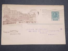 CANADA - Entier Postal Illustré ( Château Frontagnac ) Commerciale Pour La France En 1919 - L 14660 - 1903-1954 Rois