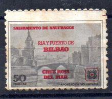 Viñeta Salvamento De Naufragos  Cruz Roja Del Mar Bilbao. - España