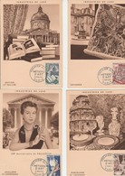 CARTE MAXIMUM - SERIE METIERS D'ART - N°970 A 974  OBLITERE 6 MAI 1954 - COTE : 90 € - Cartas Máxima