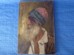 """Ecole Française - 1919 -  """"Portrait D'un Vieux Marocain """" - Huile Sur Toile - 33 X 22 Cm - Huiles"""