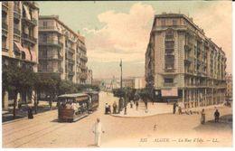 POSTAL   ALGER (ARGELIA)  -AFRICA  - CALLE DE ISLY  ( LA RUE D'ISLY ) - Algiers