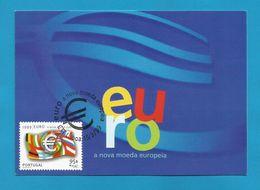 Portugal 1999  Mi.Nr. 2326 , EUROPA  CEPT Mitläufer - Einführung Des Euro - Maximum Card - CTT Lisboa 15/3/99 - 1999