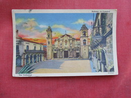 Habana Cuba Cathedral 3 Stamps On Back Not Posted Ref 2872 - Cuba