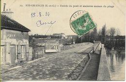 RIS ORANGIS  Entrée Du Pont Et Ancienne Maison Du Péage (carte Rare) - Ris Orangis
