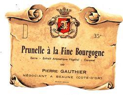 Etiquette Prunelle Fine Bourgogne  Beaune - Etiquettes