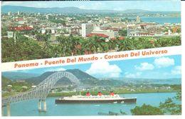 POSTAL   PANAMA  - AMERICA DEL SUR  - VISTA PANORAMICA  (VUE PANORAMIQUE ) - Panamá