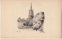 """Carte Artistique """"BRUGES Quais D'Yver """" Par Ch LUDIN - Arts"""