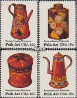 USA 1378-1381 (kompl.Ausg.) Postfrisch 1979 Amerikanische Volkskunst - Blechges - United States
