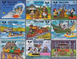 Sierra Leone 1056-1064 (kompl.Ausg.) Postfrisch 1987 60 Jahre Mickey Maus - Sierra Leone (1961-...)