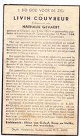 Devotie Doodsprentje Overlijden - Livin Couvreur - Ichtegem 1869 - Lichtervelde 1944 - Obituary Notices