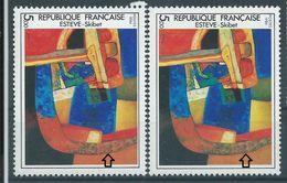 [20] Variétés : N° 2413 Skibet élément Rouge Au Lieu De Gris-vert + Normal  ** - Varieties: 1980-89 Mint/hinged