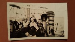 Old Photo Italian Ship Steamer Trieste Crew Italy Italia RR - Photography