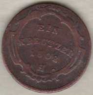 Empire Autrichiens . 1 Kreuzer 1802 H (Guntzbourg) Franz II . KM# 27 - Autriche