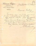 21 GEVREY CHAMBERTIN COURRIER 1913  Propriétaires VIGNOBLES Vins  Au Clos Vougeot REBOURSEAU PHILIPPON  * Z97  LONGVIC - France