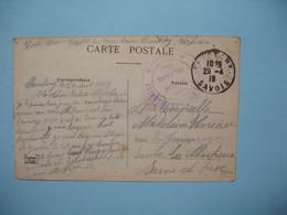 CPA   1916  Cachet Des Hospices Civils De Chambéry Savoie - Section  Militaire - Marcophilie (Lettres)