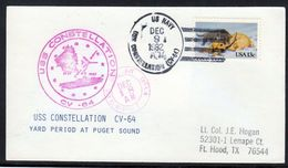 """US Navy, USS""""CONSTELLATION"""" (CV-64 ) Puget Sound ,LOW PRICE !! Look Scan, RARE !! 2.3-32 - Bateaux"""